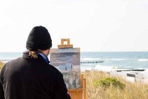 Freies Malen am Strand von Kühlungsborn im Rahmen des Plein Air Festivals (c) FRank Koebach (15)