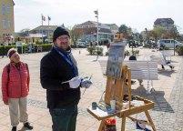 Freies Malen am Strand von Kühlungsborn im Rahmen des Plein Air Festivals (c) FRank Koebach (16)