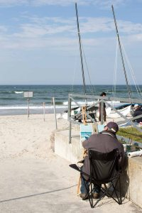 Freies Malen am Strand von Kühlungsborn im Rahmen des Plein Air Festivals (c) FRank Koebach (18)