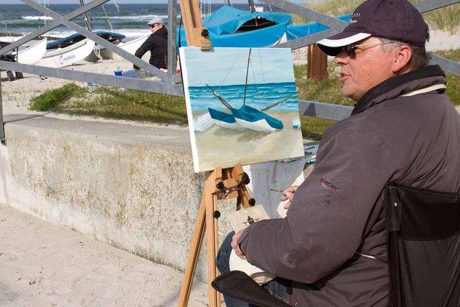 Freies Malen am Strand von Kühlungsborn im Rahmen des Plein Air Festivals (c) FRank Koebach (19)