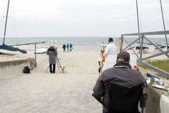 Freies Malen am Strand von Kühlungsborn im Rahmen des Plein Air Festivals (c) FRank Koebach (2)
