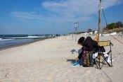Freies Malen am Strand von Kühlungsborn im Rahmen des Plein Air Festivals (c) FRank Koebach (20)