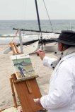 Freies Malen am Strand von Kühlungsborn im Rahmen des Plein Air Festivals (c) FRank Koebach (3)