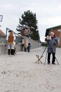 Freies Malen am Strand von Kühlungsborn im Rahmen des Plein Air Festivals (c) FRank Koebach (6)