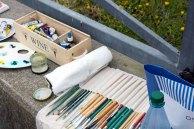 Handwerkszeug der Plein Air Maler bei Festival in Kühlungsborn (c) Frank Koebsch