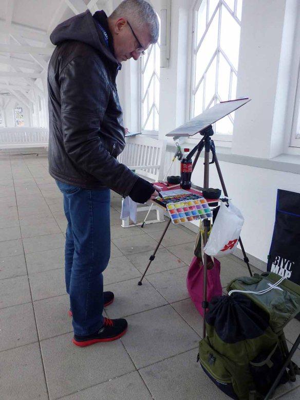 Im Workshop Aquarell des Plein Air Festivals Kühlungsborn (c) Sonja Jannichsen (2)