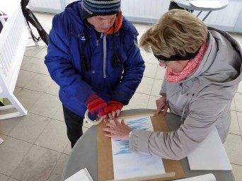 Im Workshop Aquarell des Plein Air Festivals Kühlungsborn (c) Sonja Jannichsen (4)