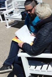 Ivan Prado unterichtet das Zeichnen von Karrikaturen beim Plein Air Festival Kühlungsborn (c) FRank Koebsch (5)