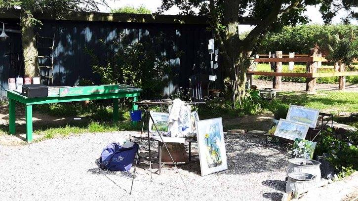 Mein Arbeitspaltz für Kunst Offen in der Alten Büdnerei Kühlungsborn (c) Frank Koebsch (1)