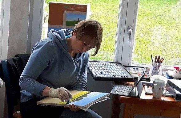 Palstellmalerei in der Alten Büdnerei (c) FRank Koebsch (2)