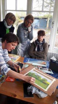 Pastell Workshop mit Susanne Mull während des Plein Air Festivals in Kühlungsborn (c) FRank Koebsch