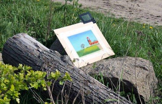 Plein Air Pastellmalerei am Leuchtturm Bastorf (c) FRank Koebsch (15)