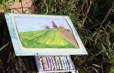 Plein Air Pastellmalerei am Leuchtturm Bastorf (c) FRank Koebsch (16)