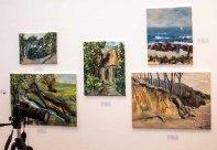 Schnappschüsse vom Hängen der Ausstellung des Plein Air Festival in der Kunsthalle Kühlunsborn (c) FRank Koebsch (2)