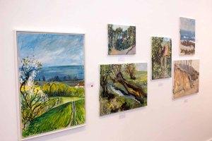 Schnappschüsse vom Hängen der Ausstellung des Plein Air Festival in der Kunsthalle Kühlunsborn (c) FRank Koebsch (3)
