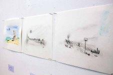 Schnappschüsse vom Hängen der Bilder beim PLein Air Festival (c) FRank Koebsch (9)