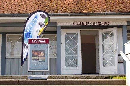 Startpunkt für das Freie Malen bei Plein Air Festival - die Kunsthalle Kühlungsborn (c) FRank Koebsch