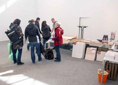 Vorbereitungen auf das Freie Malen beim Plein Air Festival in Kühlungsborn (c) FRank Koebsch (3)