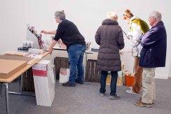 Vorbereitungen auf das Freie Malen beim Plein Air Festival in Kühlungsborn (c) FRank Koebsch