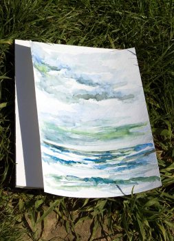 Wolken und Meer - die wichtigsten Motive des Plein Air Festivals in Kühlungsborn (c) FRank Koebsch