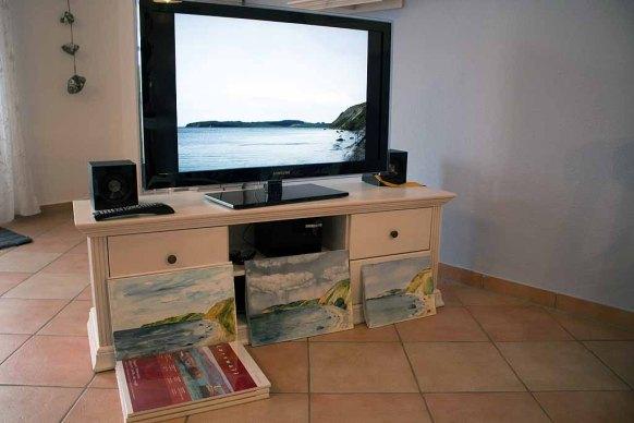 Bildbesprechung für die Aquarelle mit dem Blick auf Groß Zicker (c) Frank Koebsch