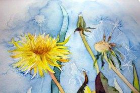 Details des Druckes des Aquarells - Farben der Sommerwiese auf Hahnemühle Papier Albrecht Dürer (c) FRank Koebsch (1)