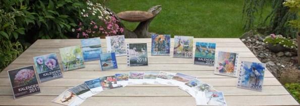 Kalender 2008 bis 2018 mit Aquarellen von Hanka und Frank Koebsch