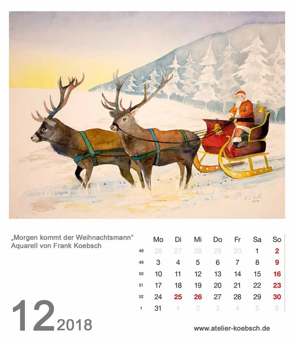 Kalenderblatt Dezember 2018
