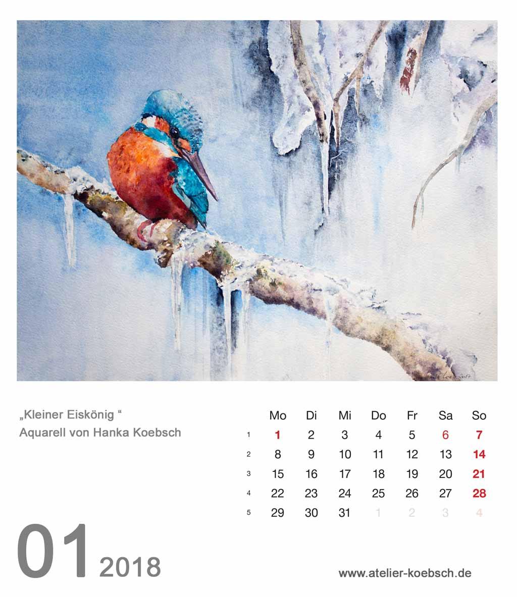 Kalenderblatt Januar 2018