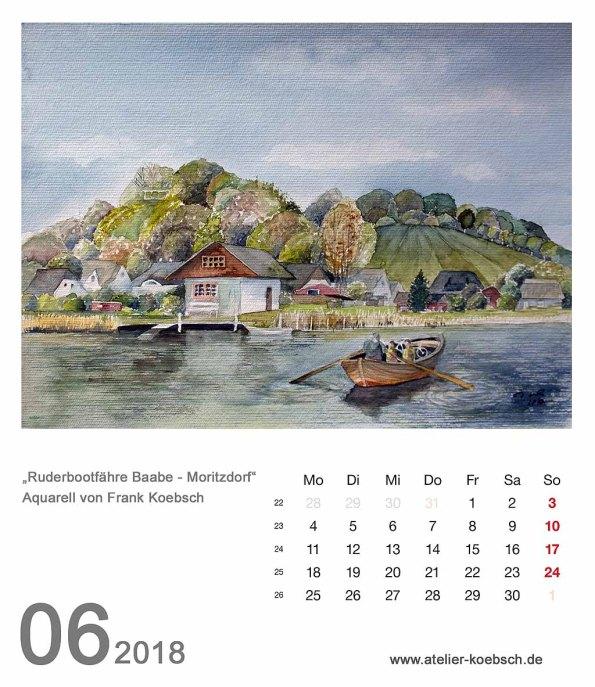 Kalenderblatt Juni 2018