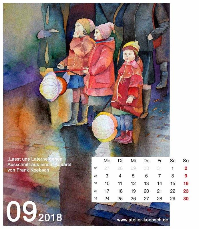 Kalenderblatt September 2018
