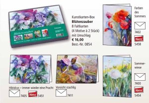 Kunstkarten Box Blütenzauber mit Aquarellen von Hanka & Frank Koebsch vom Präsenz Verlag (2)