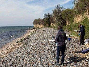 Malen an der Steilküste auf Klein Zicker (c) FRank Koebsch (1)