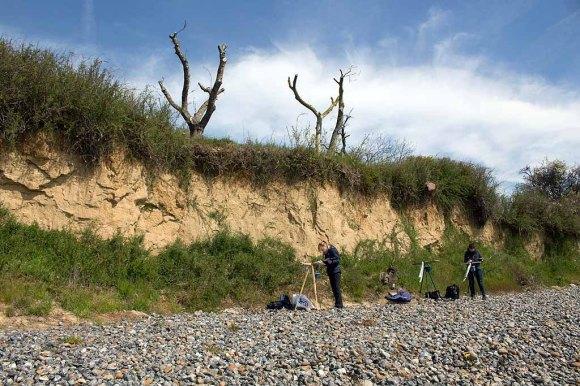 Malen an der Steilküste von Klein Zicker (c) FRank Koebsch (1)