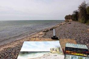 Malen an der Steilküste von Klein Zicker (c) FRank Koebsch (2)