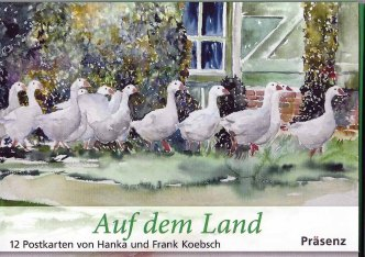 Postkarten-Serie Auf dem Land mit Aquarellen von Hanka & Frank Koebsch im Präsenz Verlag (1)