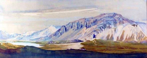 ÁsgrímurJónsson_Mt.KetillaugarfjallinHornafjörður - 1912 -National Gallery of Iceland.tiff