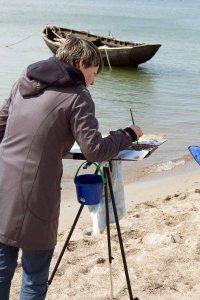 Fischerboot am Strand zwischen Klein Zicker und Thiessow (c) Frank Koebsch (3)