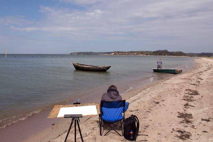 Fischerboote malen am Strand zwischen Klein Zicker und Thiessow (c) Frank Koebsch (2)