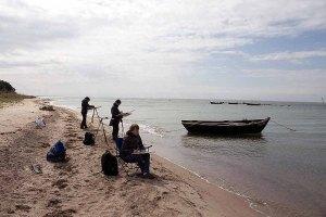 Fischerboote malen am Strand zwischen Klein Zicker und Thiessow (c) Frank Koebsch (3)