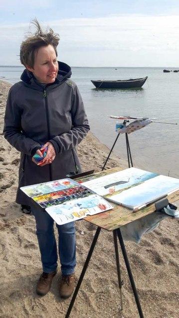 Fischerboote malen am Strand zwischen Klein Zicker und Thiessow (c) Frank Koebsch (4)