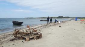 Fischerboote malen am Strand zwischen Klein Zicker und Thiessow (c) Frank Koebsch (5)