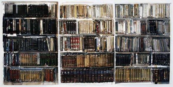 Lars Lerin Bibliotek Akvarell 2009