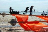 Malen am Strand zwischen Klein Zicker und Thiessow (c) FRank Koebsch