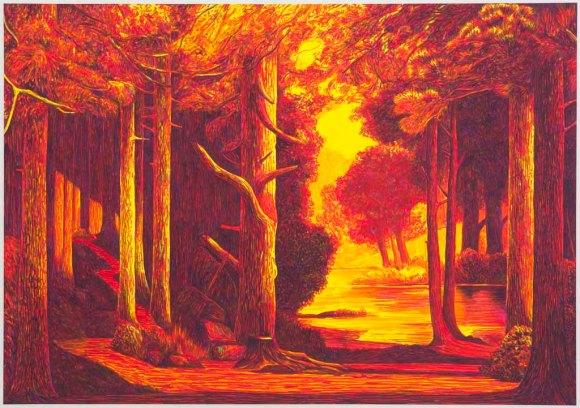 Martin Jacobson - Skogsstig, starkt ljus Forest path, strong light - 2012.tiff