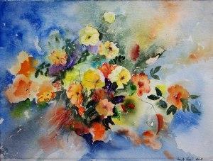 Sommerboten (c) ein Blumen Aquarell von Hanka Koebsch