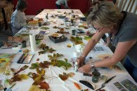 Schnappschüsse aus dem Aquarellkurs - bunter Herbstblätter (c) FRank Koebsch (10)