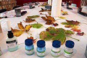 Schnappschüsse aus dem Aquarellkurs - bunter Herbstblätter (c) FRank Koebsch (2)