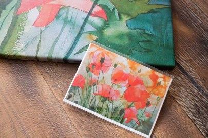 Drucke des Aquarells - Traum im Mohnfeld - als Kunstkarte und auf Leinwand im Format 70 x 100 cm (c) Frank Koebsch