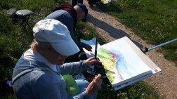 Malreise an die Ostsee - Malen am Leuchtturm Bastorf (c) FRank Koebsch (4)